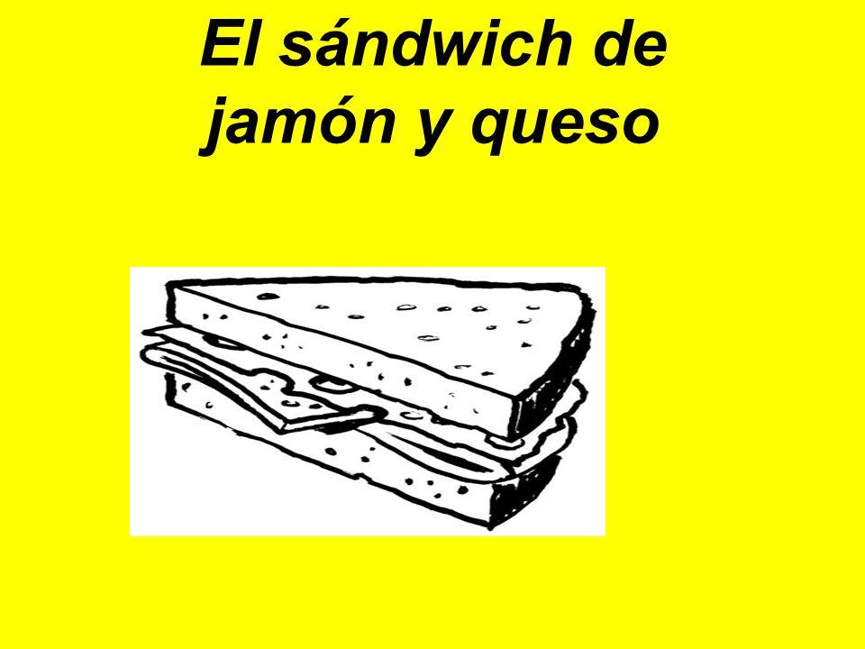 El sándwich de jamόn y queso