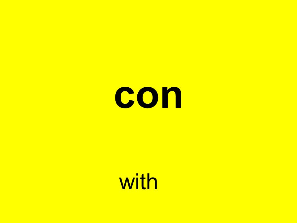 con with