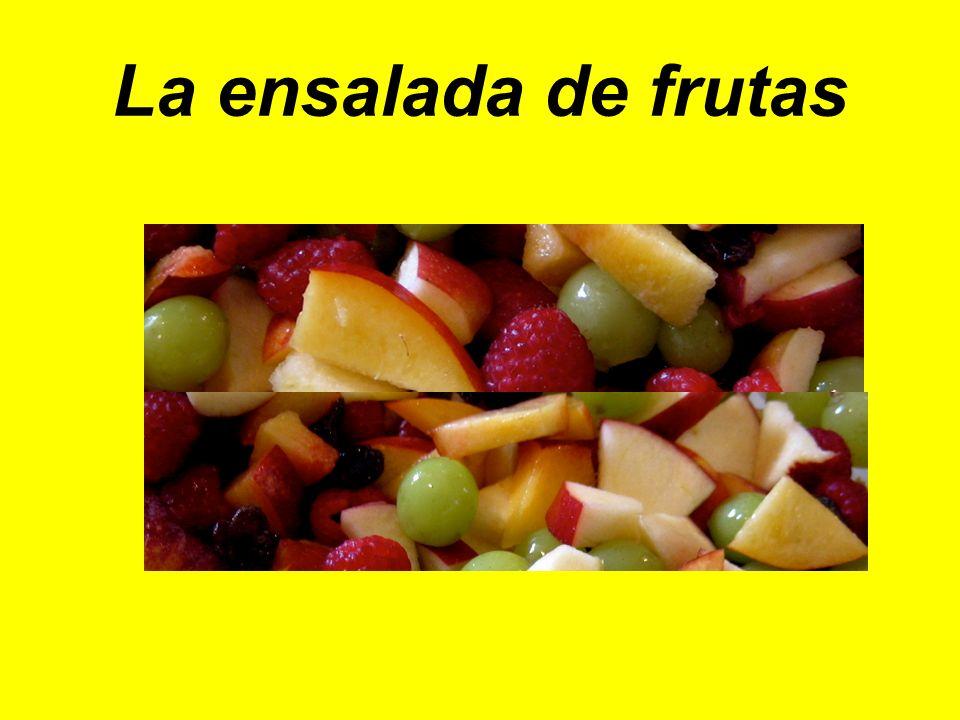 La ensalada de frutas