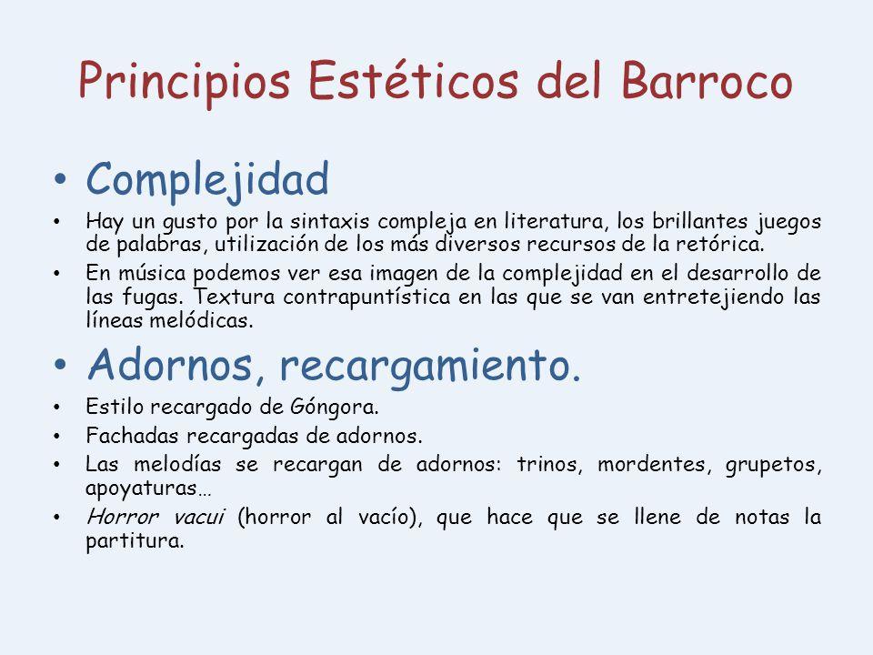 Principios Estéticos del Barroco