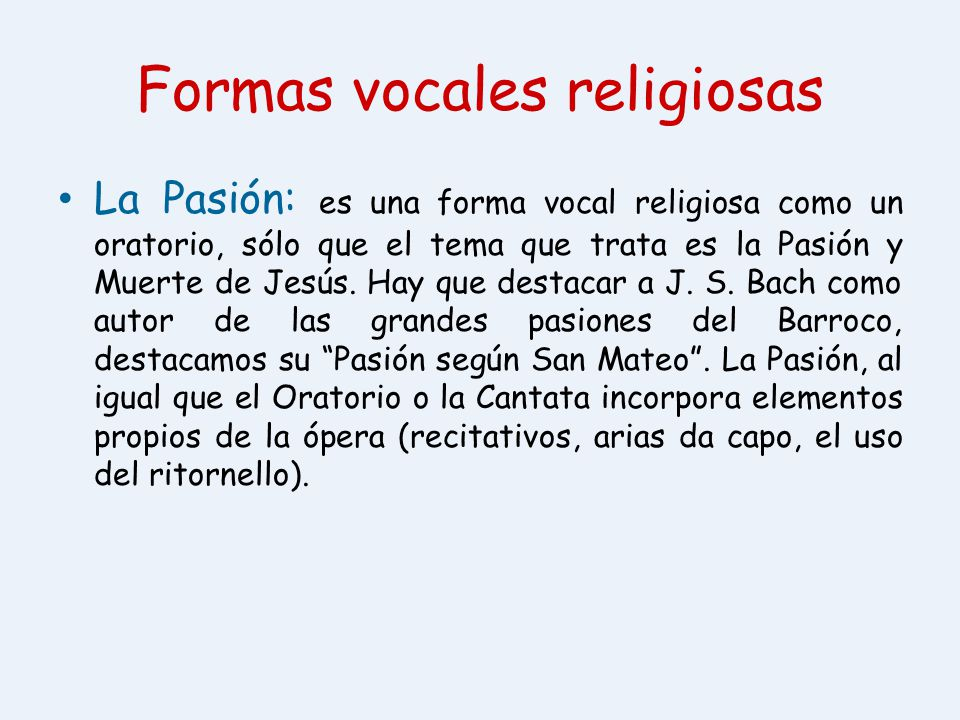 Formas vocales religiosas