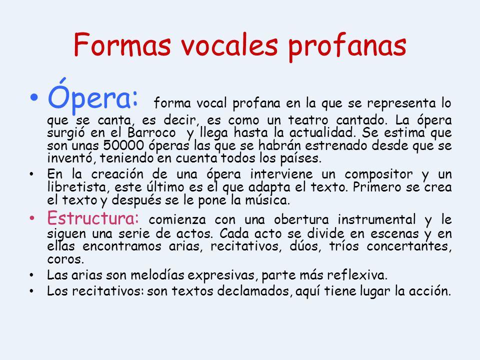 Formas vocales profanas