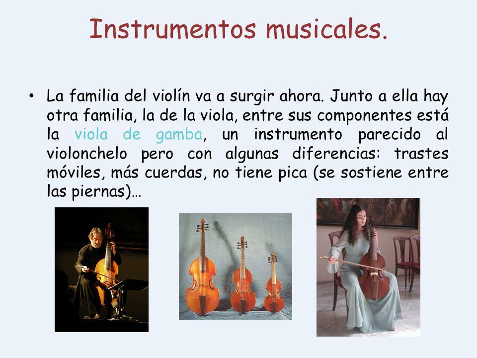 Instrumentos musicales.
