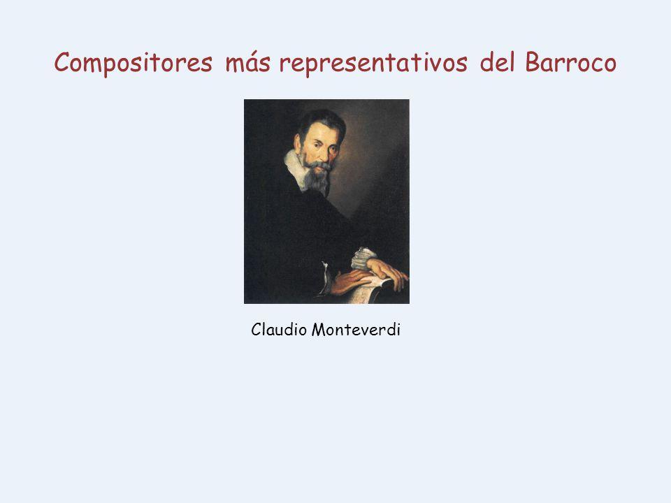 Compositores más representativos del Barroco