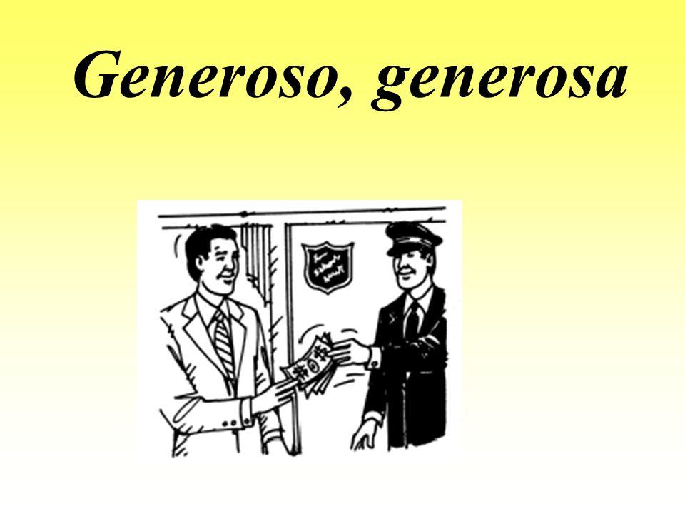 Generoso, generosa
