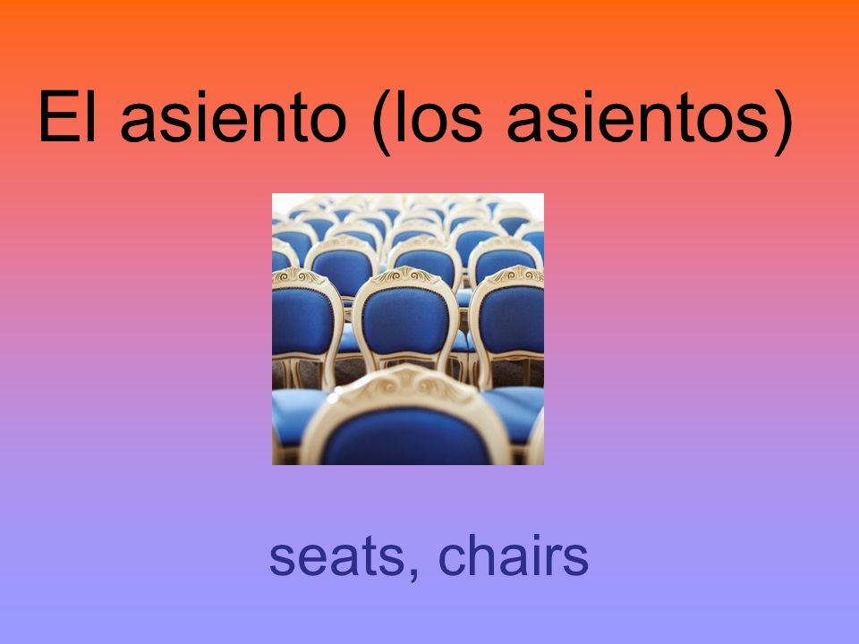 El asiento (los asientos)