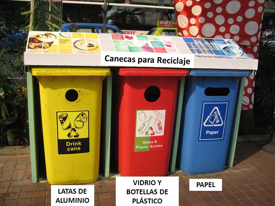 Canecas para Reciclaje VIDRIO Y BOTELLAS DE PLÁSTICO