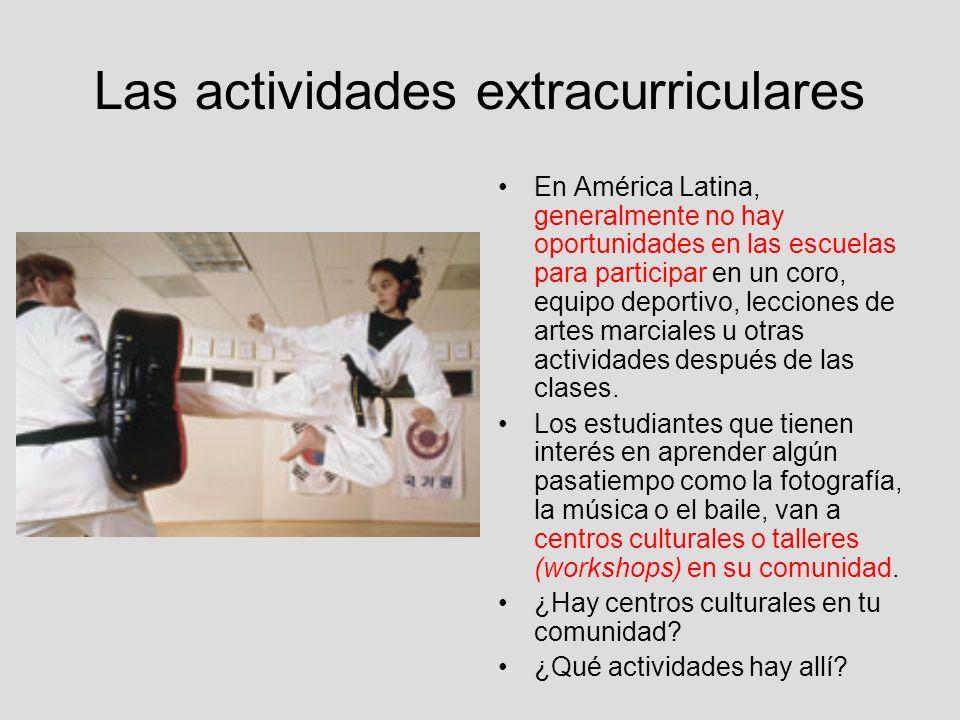 Las actividades extracurriculares