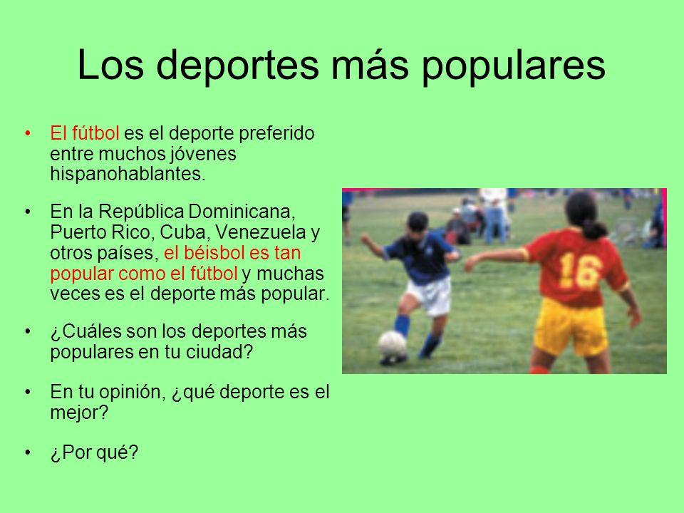 Los deportes más populares