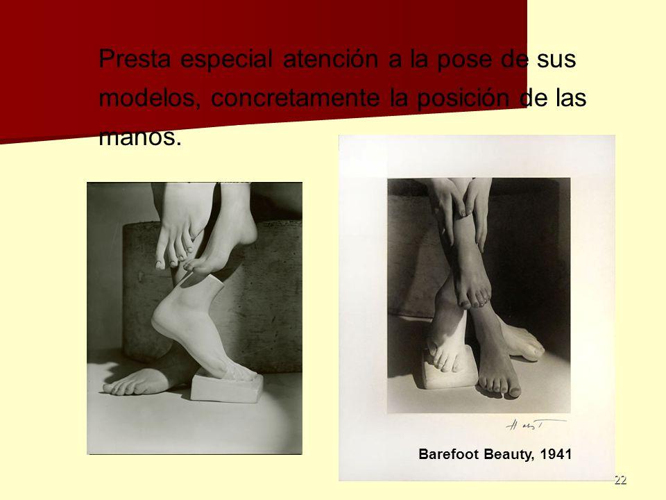 Presta especial atención a la pose de sus modelos, concretamente la posición de las manos.