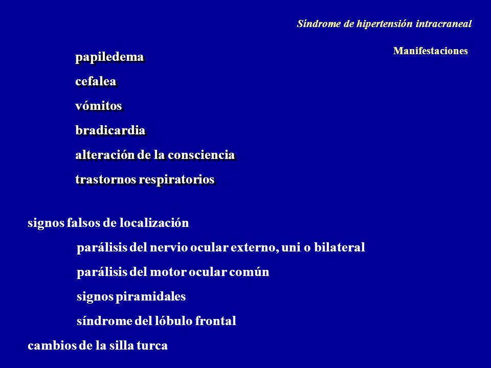 alteración de la consciencia trastornos respiratorios