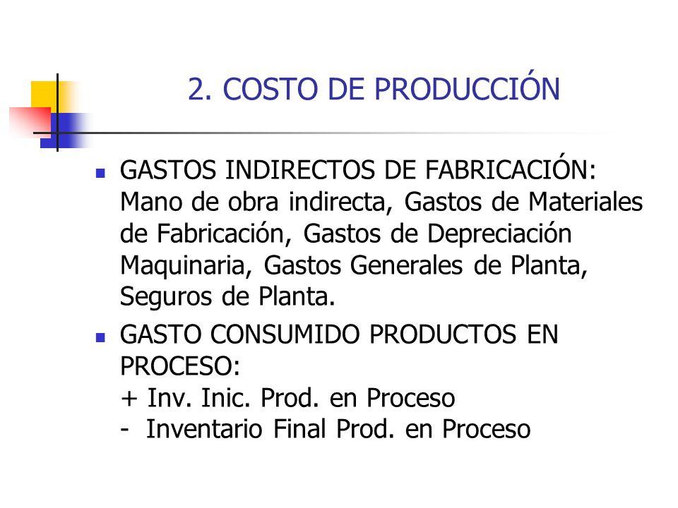 2. COSTO DE PRODUCCIÓN