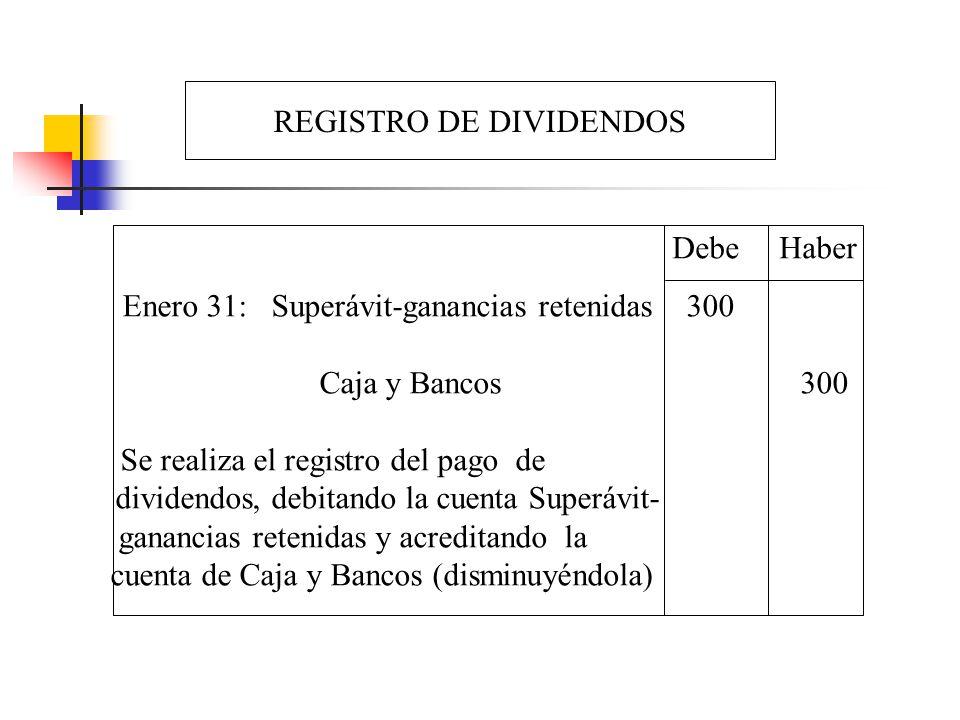 REGISTRO DE DIVIDENDOS