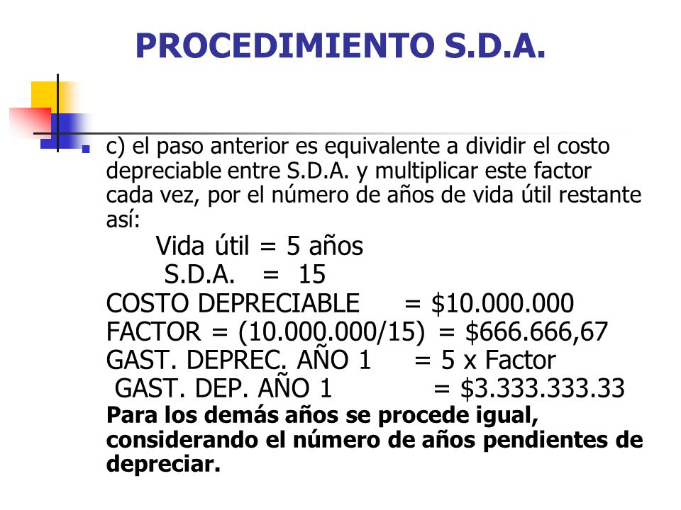 PROCEDIMIENTO S.D.A.