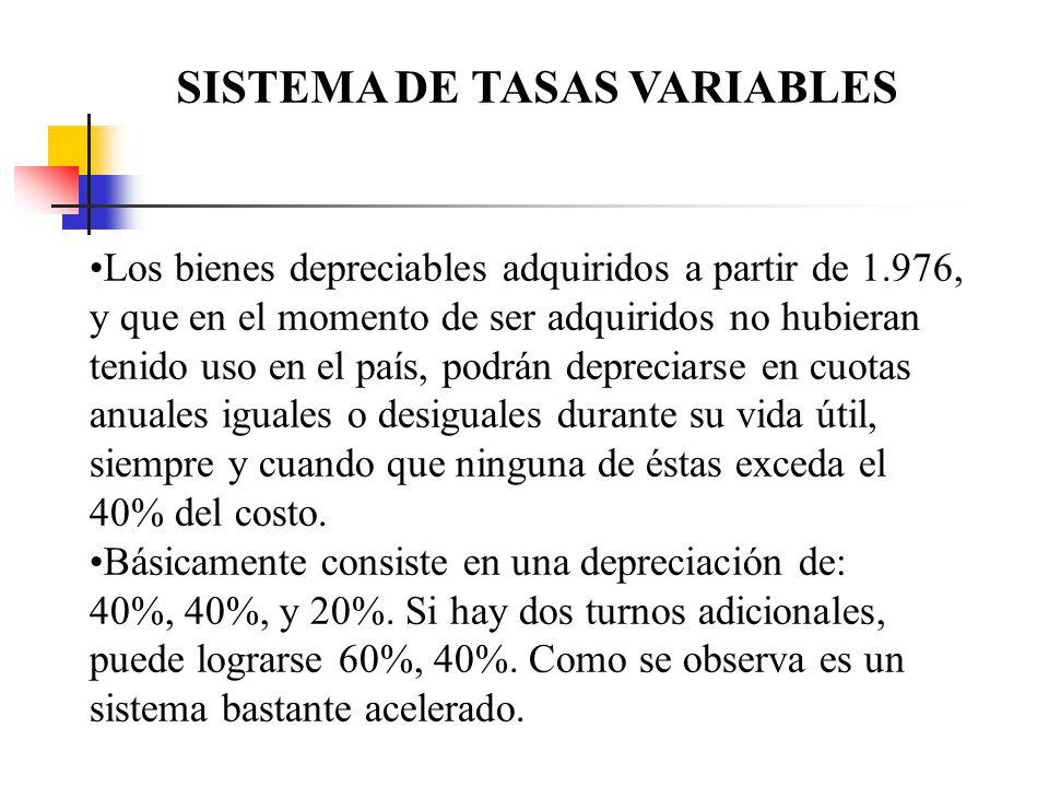 SISTEMA DE TASAS VARIABLES