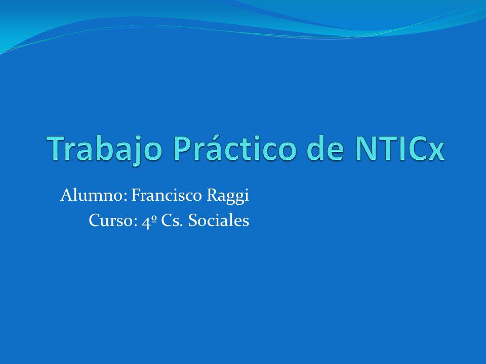 Trabajo Práctico de NTICx