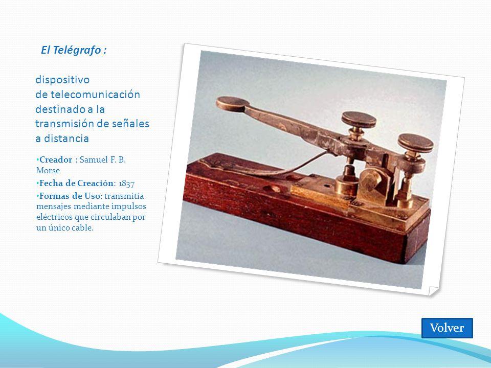 El Telégrafo : dispositivo de telecomunicación destinado a la transmisión de señales a distancia