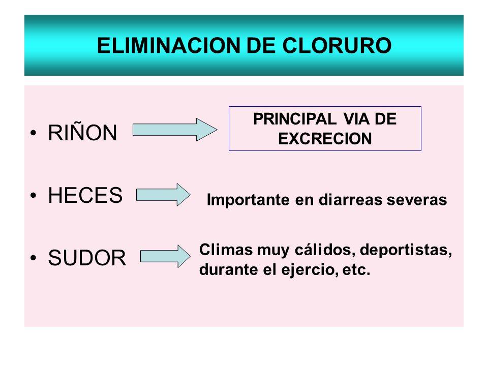 ELIMINACION DE CLORURO