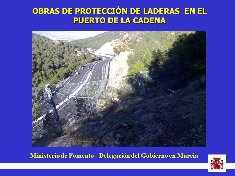 OBRAS DE PROTECCIÓN DE LADERAS EN EL
