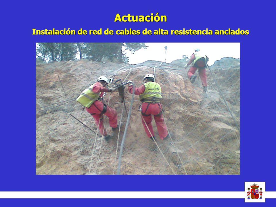 Actuación Instalación de red de cables de alta resistencia anclados 22