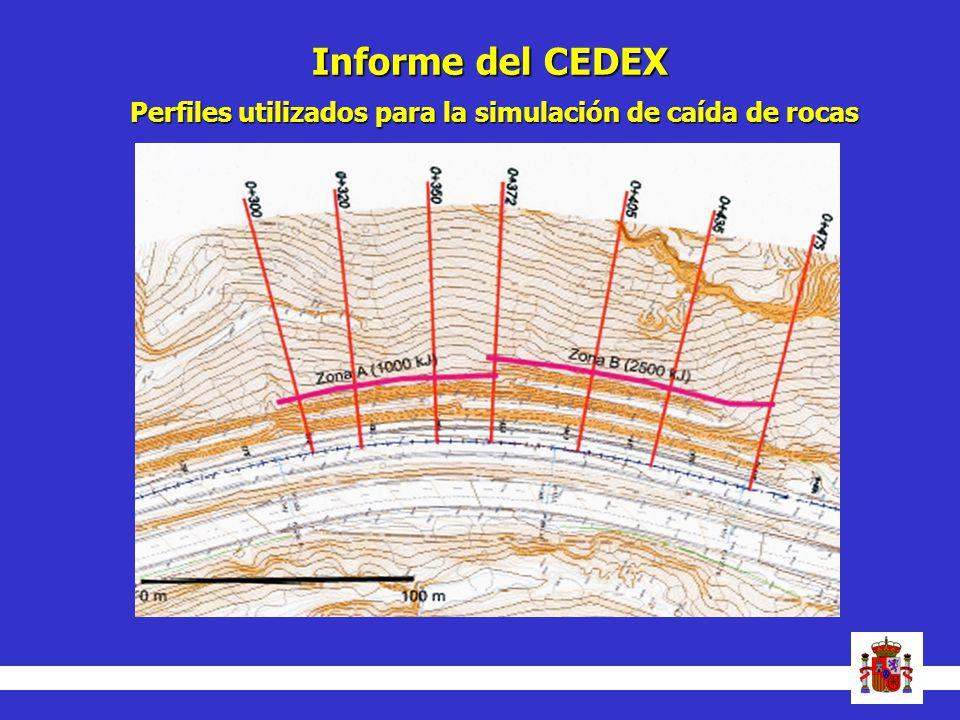 Informe del CEDEX Perfiles utilizados para la simulación de caída de rocas 7