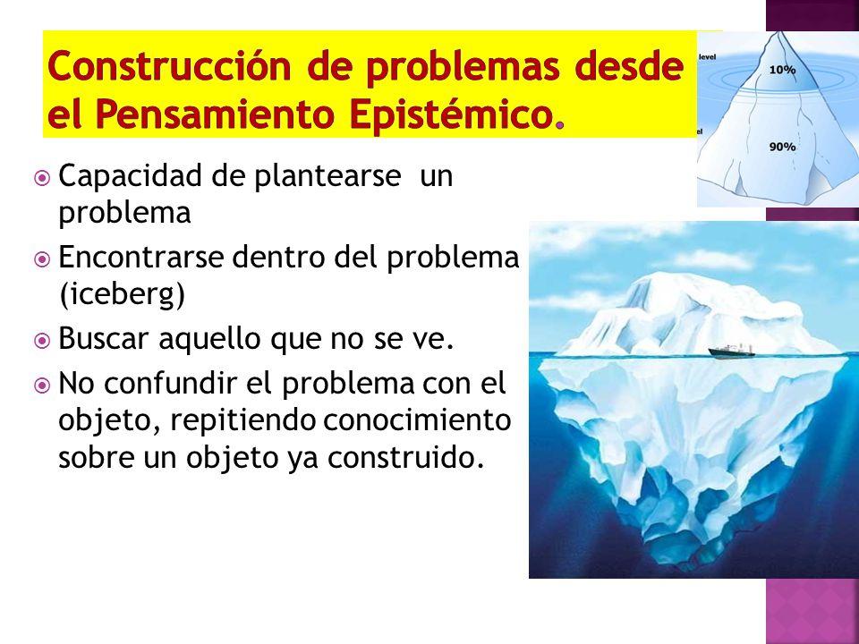Construcción de problemas desde el Pensamiento Epistémico.