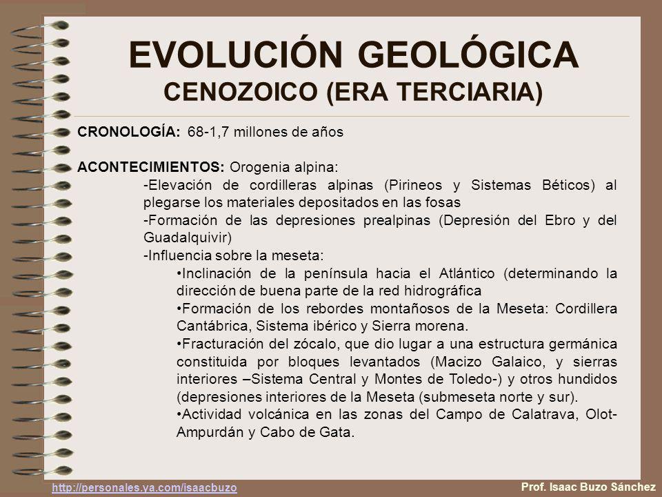 EVOLUCIÓN GEOLÓGICA CENOZOICO (ERA TERCIARIA)