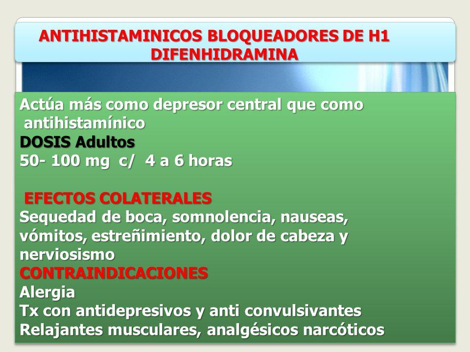 ANTIHISTAMINICOS BLOQUEADORES DE H1