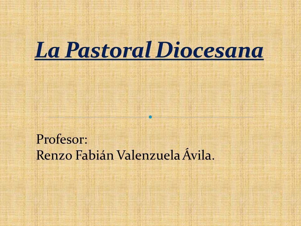 La Pastoral Diocesana Profesor: Renzo Fabián Valenzuela Ávila.