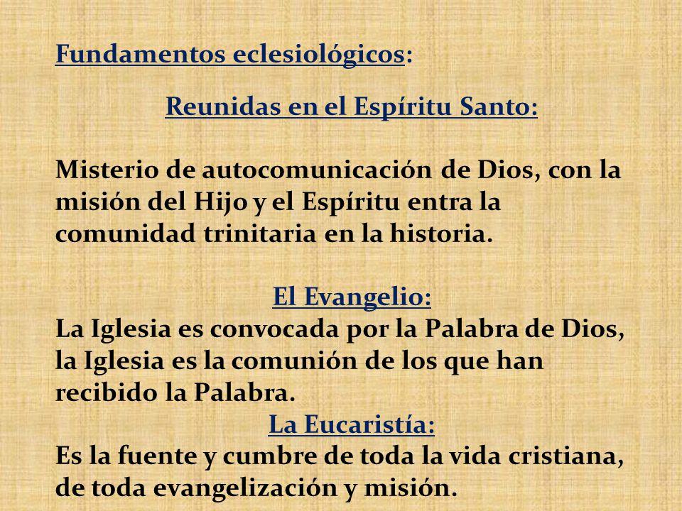 Reunidas en el Espíritu Santo: