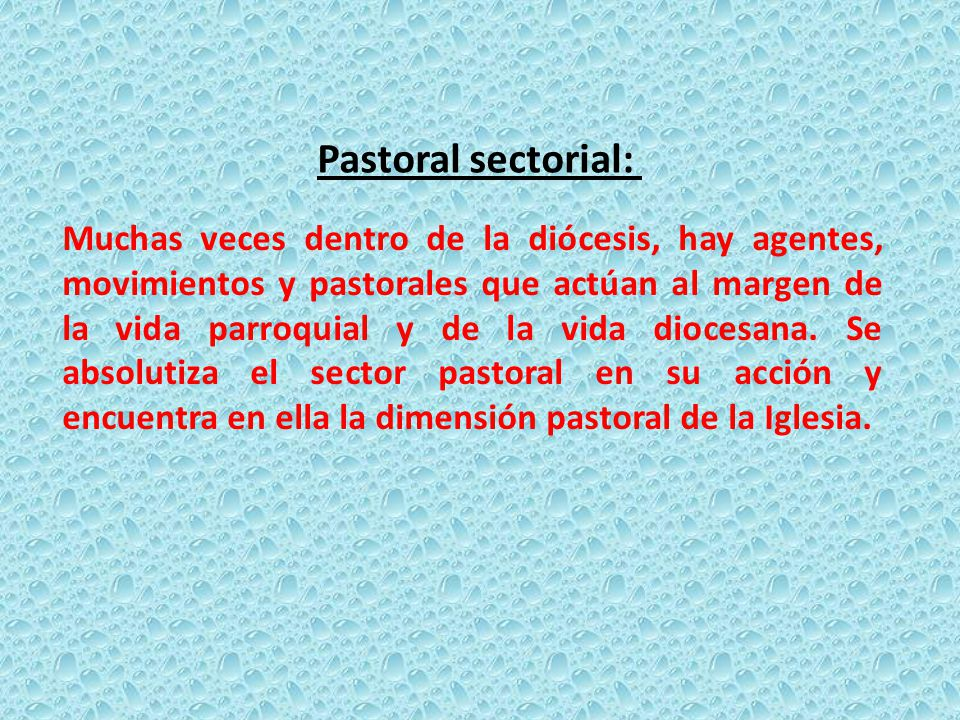 Pastoral sectorial: