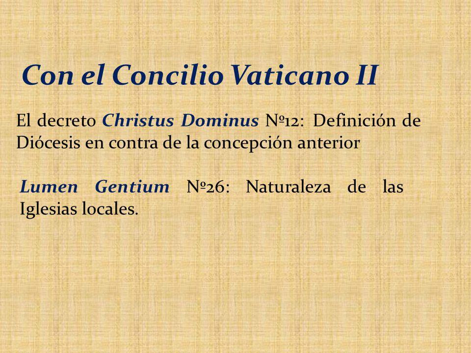 Con el Concilio Vaticano II