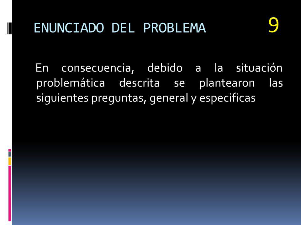 ENUNCIADO DEL PROBLEMA