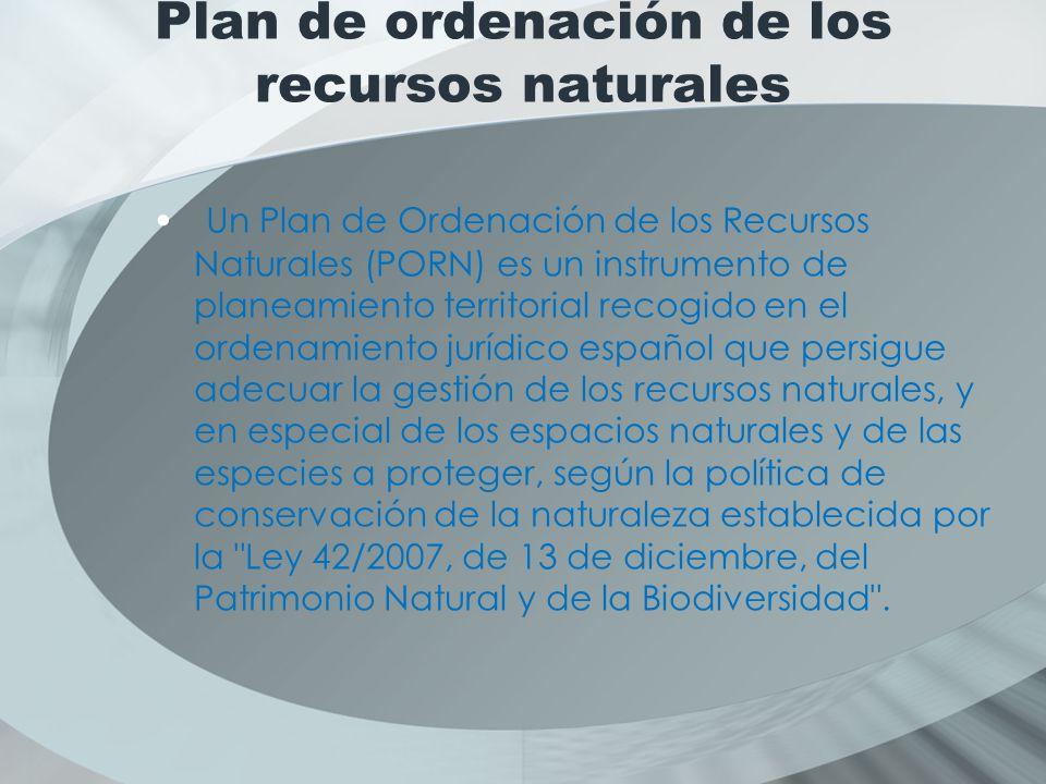 Plan de ordenación de los recursos naturales
