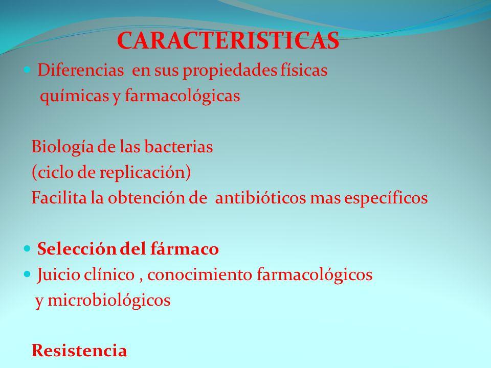 CARACTERISTICAS Diferencias en sus propiedades físicas