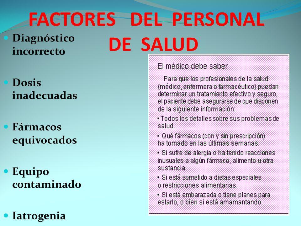 FACTORES DEL PERSONAL DE SALUD