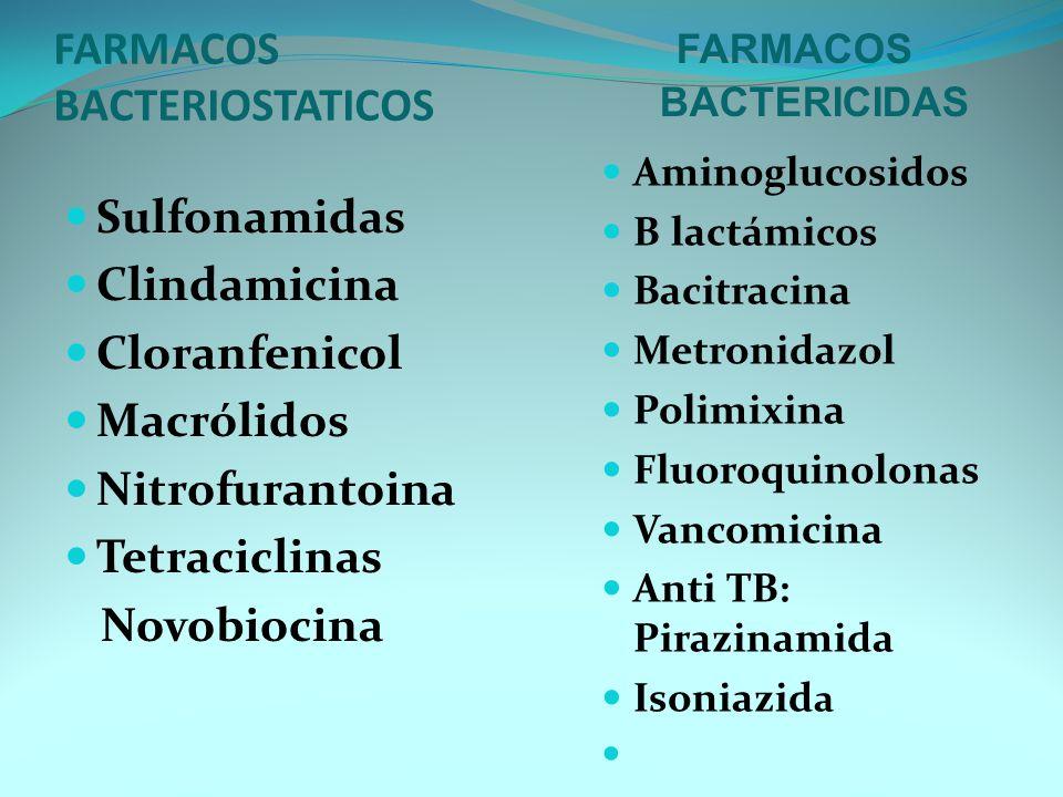 FARMACOS BACTERIOSTATICOS