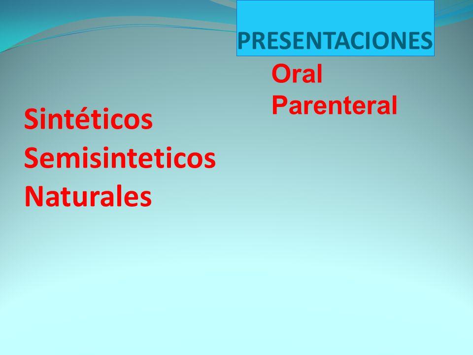 Sintéticos Semisinteticos Naturales