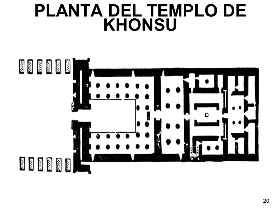 PLANTA DEL TEMPLO DE KHONSU