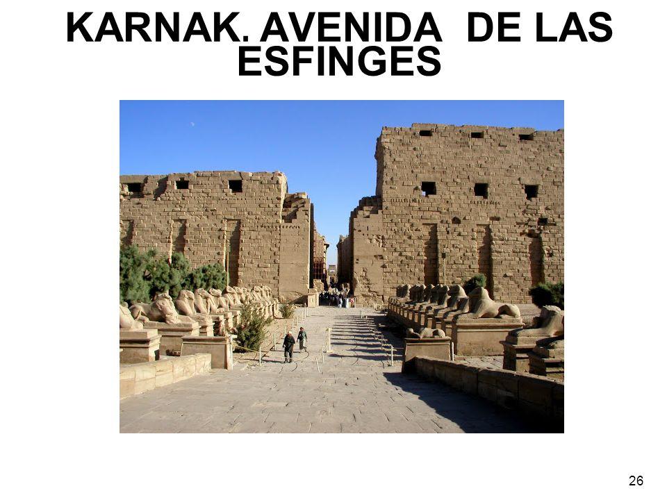 KARNAK. AVENIDA DE LAS ESFINGES