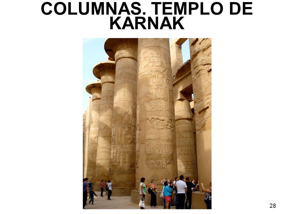 COLUMNAS. TEMPLO DE KARNAK