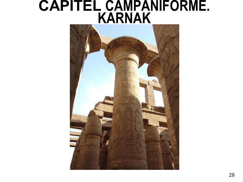 CAPITEL CAMPANIFORME. KARNAK