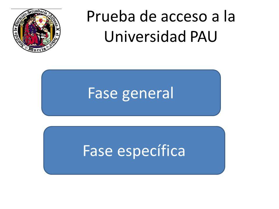 Prueba de acceso a la Universidad PAU