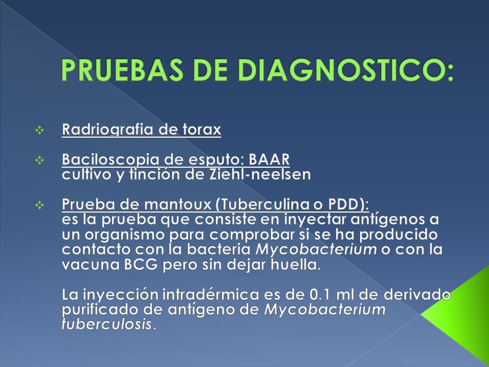 PRUEBAS DE DIAGNOSTICO:
