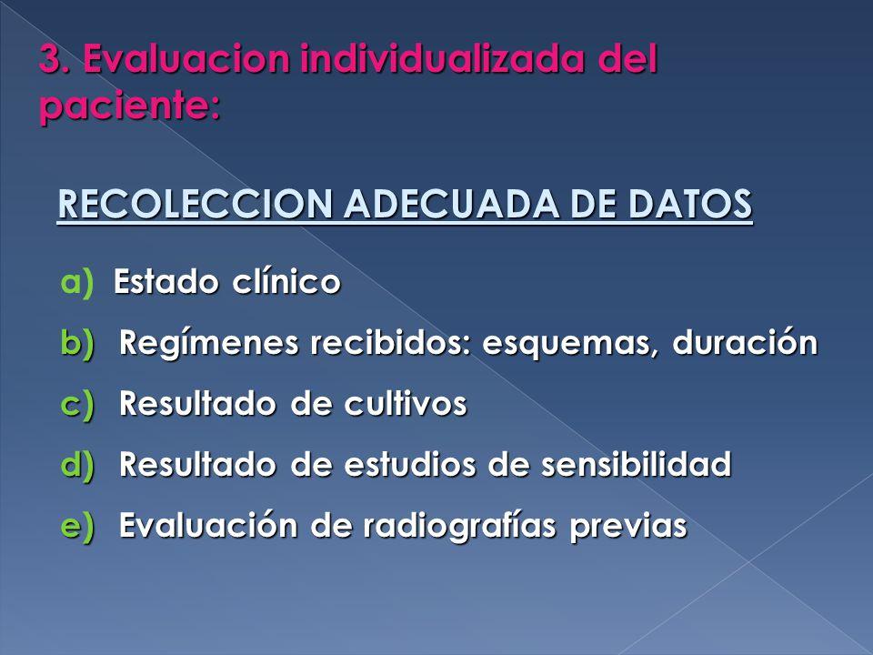 3. Evaluacion individualizada del paciente:
