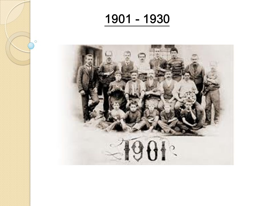 1901 - 1930