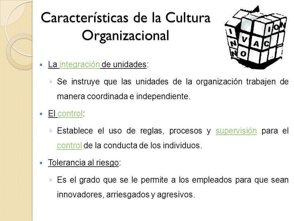 Características de la Cultura Organizacional