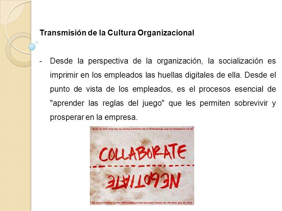 Transmisión de la Cultura Organizacional