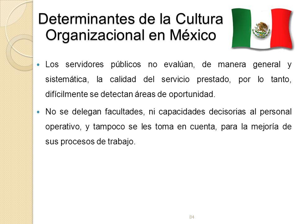 Determinantes de la Cultura Organizacional en México