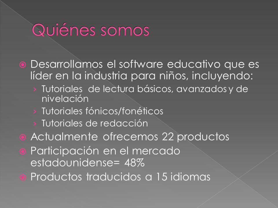 Quiénes somos Desarrollamos el software educativo que es líder en la industria para niños, incluyendo: